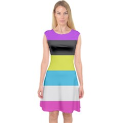 Bigender Flag Capsleeve Midi Dress