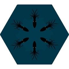 Black Octopus Mini Folding Umbrellas