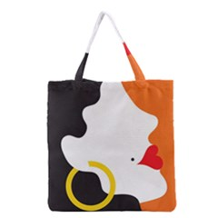 Woman s Face Grocery Tote Bag