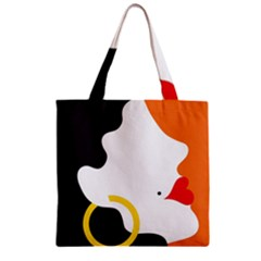 Woman s Face Zipper Grocery Tote Bag