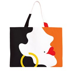 Woman s Face Large Tote Bag
