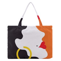Woman s Face Medium Zipper Tote Bag