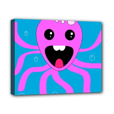 Bubble Octopus Canvas 10  X 8