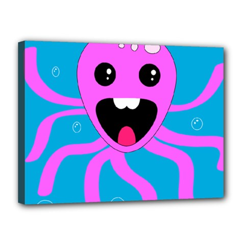 Bubble Octopus Canvas 16  X 12