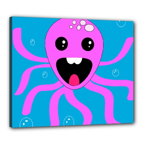Bubble Octopus Canvas 24  X 20