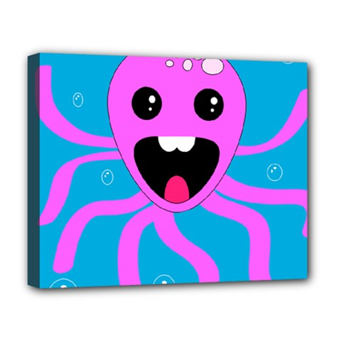 Bubble Octopus Deluxe Canvas 20  X 16