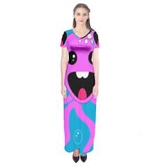 Bubble Octopus Short Sleeve Maxi Dress