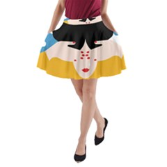 Close Your Eyes A-Line Pocket Skirt