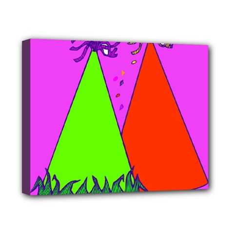 Birthday Hat Party Canvas 10  x 8