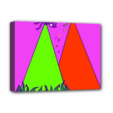Birthday Hat Party Deluxe Canvas 16  x 12