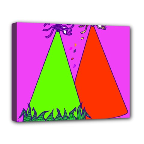 Birthday Hat Party Deluxe Canvas 20  x 16