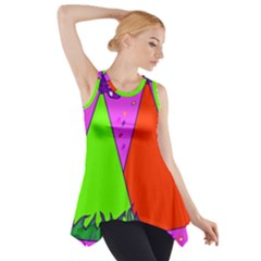 Birthday Hat Party Side Drop Tank Tunic