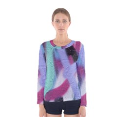 Texture Pattern Abstract Background Women s Long Sleeve Tee