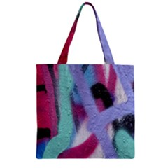 Texture Pattern Abstract Background Zipper Grocery Tote Bag