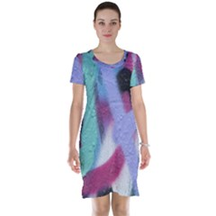 Texture Pattern Abstract Background Short Sleeve Nightdress