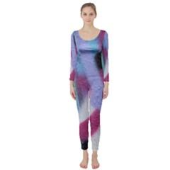Texture Pattern Abstract Background Long Sleeve Catsuit