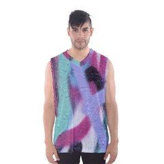 Texture Pattern Abstract Background Men s Basketball Tank Top