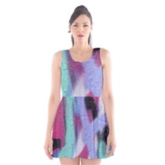 Texture Pattern Abstract Background Scoop Neck Skater Dress