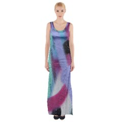 Texture Pattern Abstract Background Maxi Thigh Split Dress