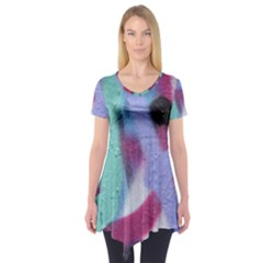 Texture Pattern Abstract Background Short Sleeve Tunic