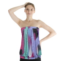 Texture Pattern Abstract Background Strapless Top