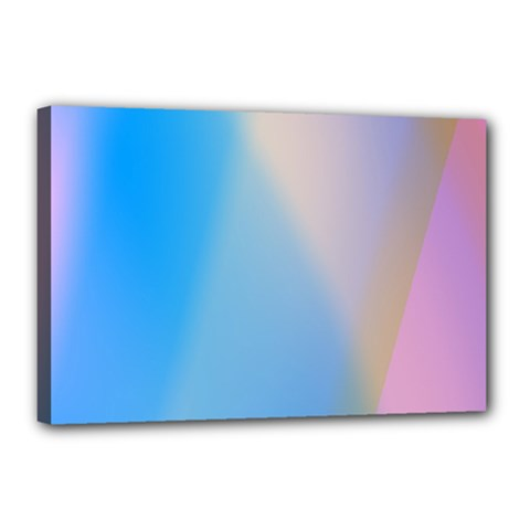 Twist Blue Pink Mauve Background Canvas 18  x 12