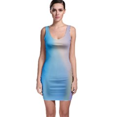 Twist Blue Pink Mauve Background Sleeveless Bodycon Dress