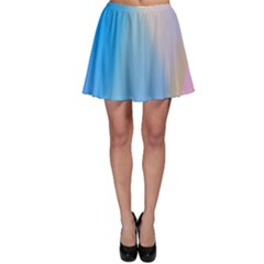 Twist Blue Pink Mauve Background Skater Skirt