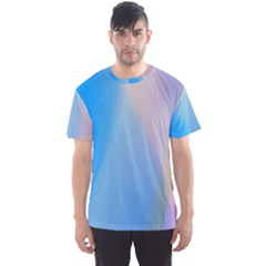 Twist Blue Pink Mauve Background Men s Sport Mesh Tee