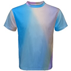 Twist Blue Pink Mauve Background Men s Cotton Tee