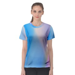 Twist Blue Pink Mauve Background Women s Sport Mesh Tee