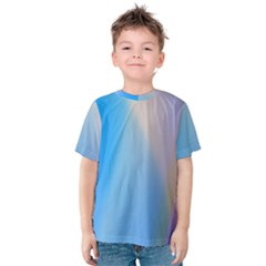 Twist Blue Pink Mauve Background Kids  Cotton Tee