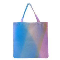 Twist Blue Pink Mauve Background Grocery Tote Bag