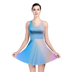 Twist Blue Pink Mauve Background Reversible Skater Dress