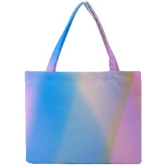 Twist Blue Pink Mauve Background Mini Tote Bag
