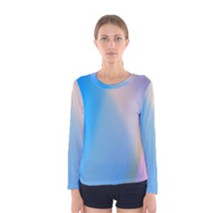 Twist Blue Pink Mauve Background Women s Long Sleeve Tee