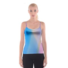 Twist Blue Pink Mauve Background Spaghetti Strap Top