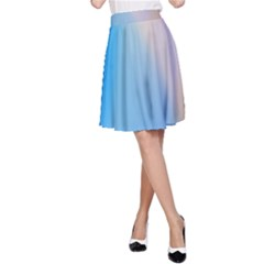 Twist Blue Pink Mauve Background A-Line Skirt