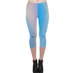 Twist Blue Pink Mauve Background Capri Leggings