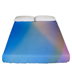 Twist Blue Pink Mauve Background Fitted Sheet (California King Size)