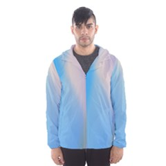 Twist Blue Pink Mauve Background Hooded Wind Breaker (Men)