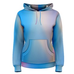 Twist Blue Pink Mauve Background Women s Pullover Hoodie