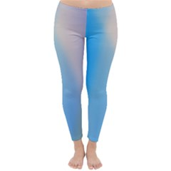 Twist Blue Pink Mauve Background Classic Winter Leggings