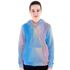 Twist Blue Pink Mauve Background Women s Zipper Hoodie