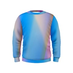Twist Blue Pink Mauve Background Kids  Sweatshirt