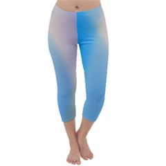 Twist Blue Pink Mauve Background Capri Winter Leggings