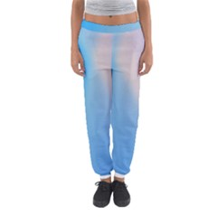Twist Blue Pink Mauve Background Women s Jogger Sweatpants