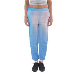 Twist Blue Pink Mauve Background Women s Jogger Sweatpants