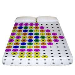 Colored Fish Fitted Sheet (king Size)