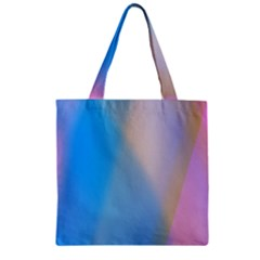 Twist Blue Pink Mauve Background Zipper Grocery Tote Bag